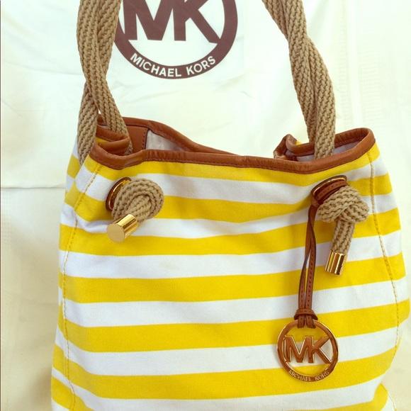 09484aac5f08 Michael Kors Bags | Canvas Tote Bag | Poshmark